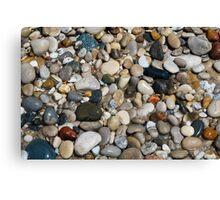 Beach Stones at Pointe Betsie, Michigan Canvas Print