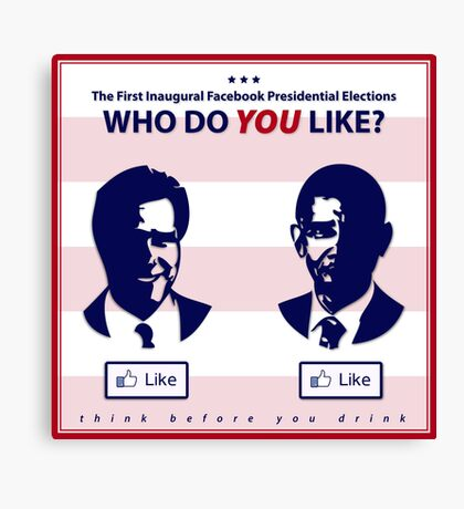 Who Do You Like? (Future of Presidential Elections) Canvas Print