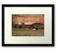 Old Barn in the Desert #2 Framed Print