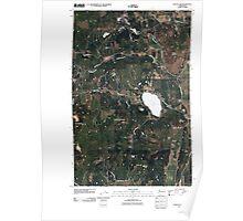 USGS Topo Map Washington State WA Waitts Lake 20110429 TM Poster