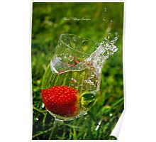 Wine Glass Falling Poster
