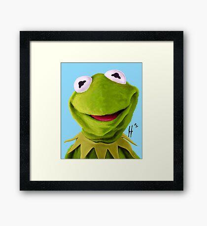 Mr. the Frog Framed Print