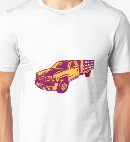 Pick-up Truck Woodcut Unisex T-Shirt