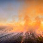 Northern Territory Bush Fire. by Nick Browne
