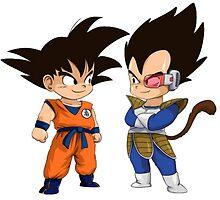 Son Goku Son Vegeta by cemolamli