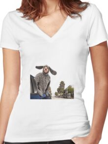My town... Women's Fitted V-Neck T-Shirt