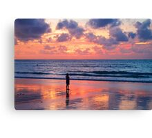 Sunset at Nai Yang Beach, Phuket, Thailand Canvas Print
