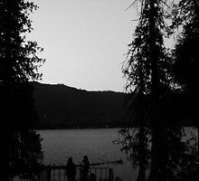Lake Wenatchee Sunset B&W by Ezra-David Saul
