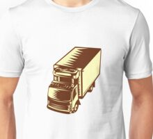 Refrigerated Truck Woodcut Unisex T-Shirt