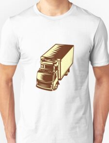 Refrigerated Truck Woodcut T-Shirt