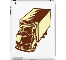 Refrigerated Truck Woodcut iPad Case/Skin