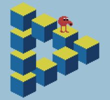 Q*bert - pixel art Kids Tee