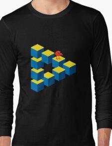 Q*bert - pixel art Long Sleeve T-Shirt