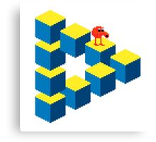 Q*bert - pixel art Canvas Print