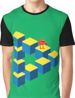 Q*bert - pixel art Graphic T-Shirt