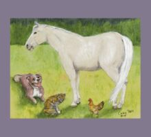 Horse Dog Cat Chicken Spring Pasture Cathy Peek Kids Clothes
