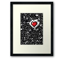 A Gamer's Heart! Framed Print