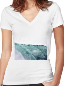 Liquid Horizon Women's Fitted V-Neck T-Shirt