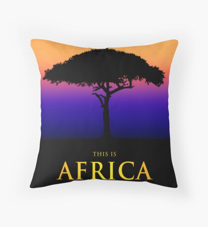 This Is Africa Throw Pillow