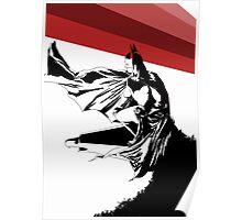 Batman Striped Poster