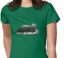 Keyboard Cat Womens Fitted T-Shirt