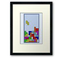 Old School Tetris Framed Print