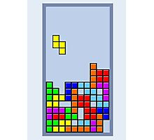 Old School Tetris Photographic Print