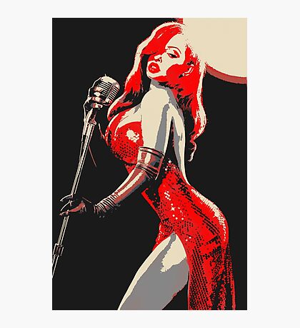 Jessica Rabbit Pin Up Photographic Print