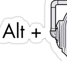 Ctrl + Alt + DELETE Sticker