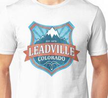 Leadville Colorado teal shield Unisex T-Shirt