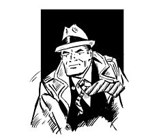 Dick tracy in B/W by burrotees
