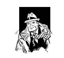 Dick tracy in B/W Photographic Print