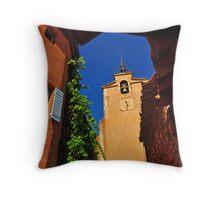 The Belltower at Roussillon Throw Pillow