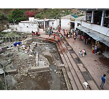 Part of the under-construction zone at the Indian religious town of Katra  Photographic Print