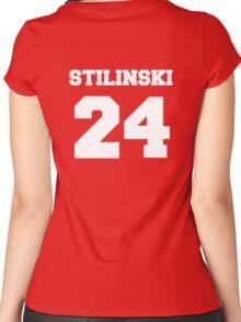 Stiles Stilinski #24 Women's Fitted Scoop T-Shirt