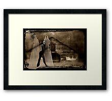Danse Macabre in Sepia Framed Print