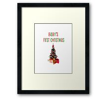 Baby's First Christmas-t-shirt Framed Print