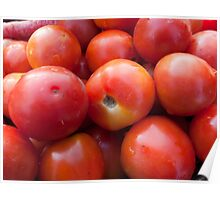 A pile of luscious bright red tomatoes Poster