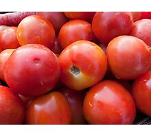 A pile of luscious bright red tomatoes Photographic Print