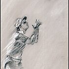 Catch it!! - Strauss taking a catch by Paulette Farrell