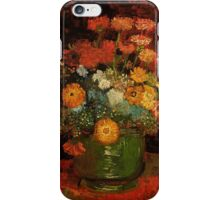 Vase with Zinnias Vincent van Gogh iPhone Case/Skin