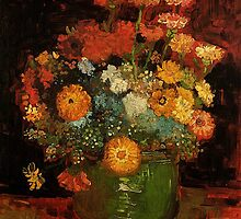 Vase with Zinnias Vincent van Gogh by naturematters