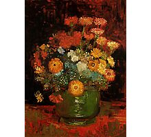Vase with Zinnias Vincent van Gogh Photographic Print