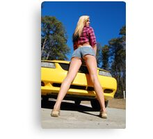 Legs and a Mustang too! Canvas Print