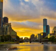 Sunset over the Yarra River Sticker