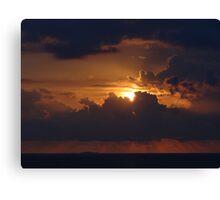 Dramatic Sunset Sequences IV - Sequencias de una dramatica Puesta del Sol Canvas Print