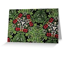 Prismatic Foliage 45 Greeting Card