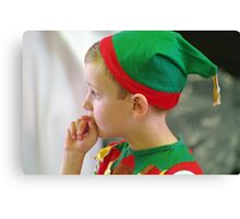 A rather reluctant elf Canvas Print