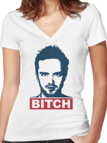 BREAKING BAD JESSE PINKMAN BITCH Women's Fitted V-Neck T-Shirt