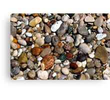 Wet, Colorful Beach Pebbles Canvas Print